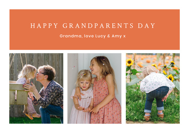 Create New Photo Card Grandparents Day   Design 5 Card