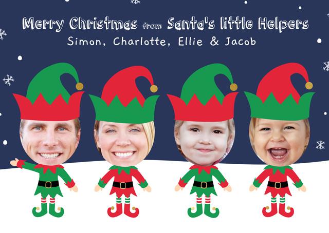 Create a Photo Christmas Card Elf X4 Photo Card