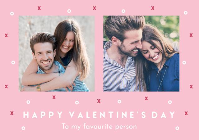 Create a Photo Card Valentines Xo Pattern Photo Card
