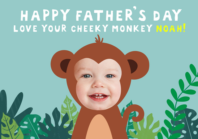 Monkey Father's Day X1