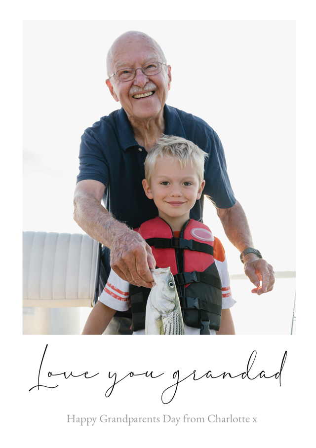 Create New Photo Card Grandparents Day   Design 13 Card