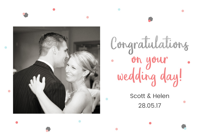 Create a On Your Wedding Day Greeting Card
