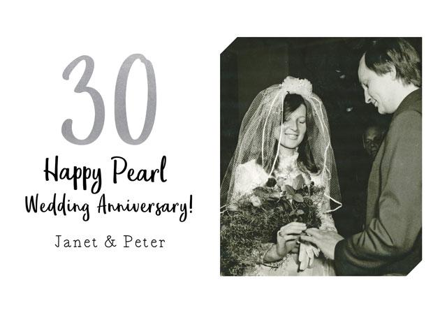 Create a Anniversary Pearl Greeting Card