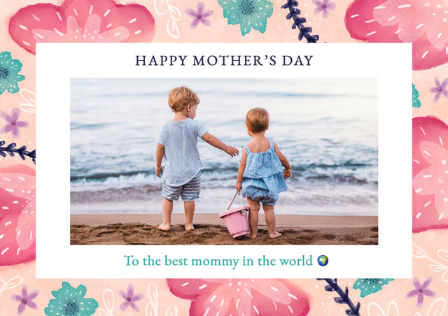 Create Photo Mother's Day Card Flowers Card