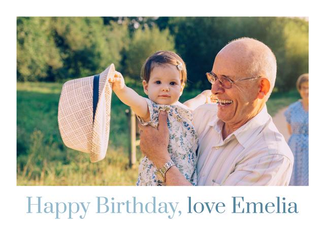 Create a White Frame Happy Birthday  Greeting Card