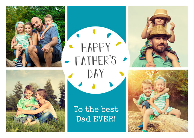 Create a Brown Paper Collage Fathers Day  Photo Card