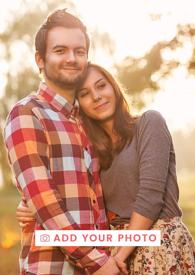 Create a Photo Card Valentines Portrait Photo Card