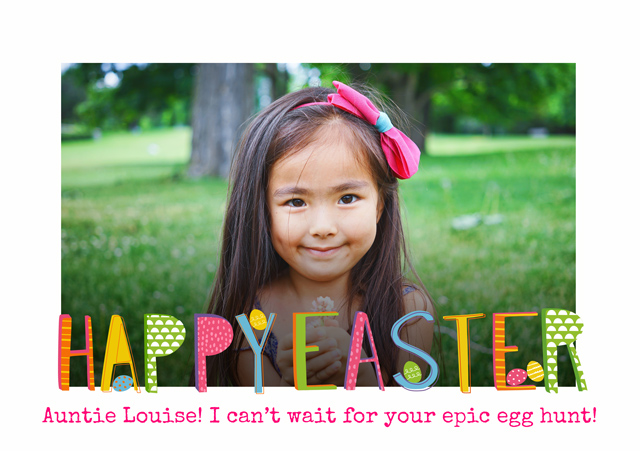 Create a Happy Eater Pattern Text Greeting Card
