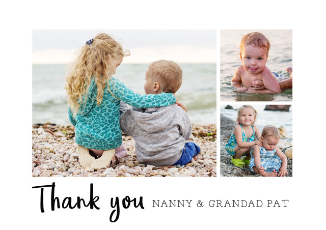 Create a Photo Thank You Card Collage Text Photo Card