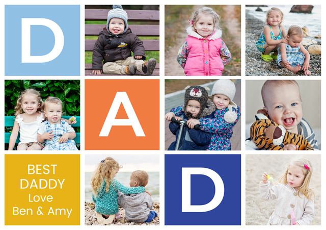 Create a Dad Squares Greeting Card
