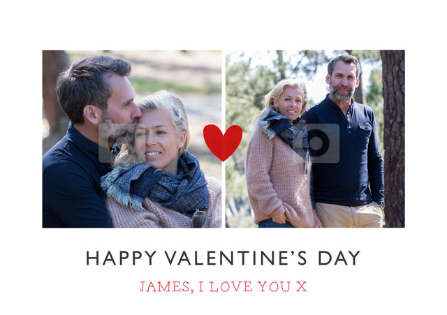 Create a Love Heart Collage Split Greeting Card