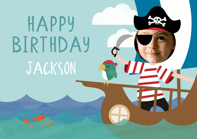 Create a Pirate Ship Greeting Card