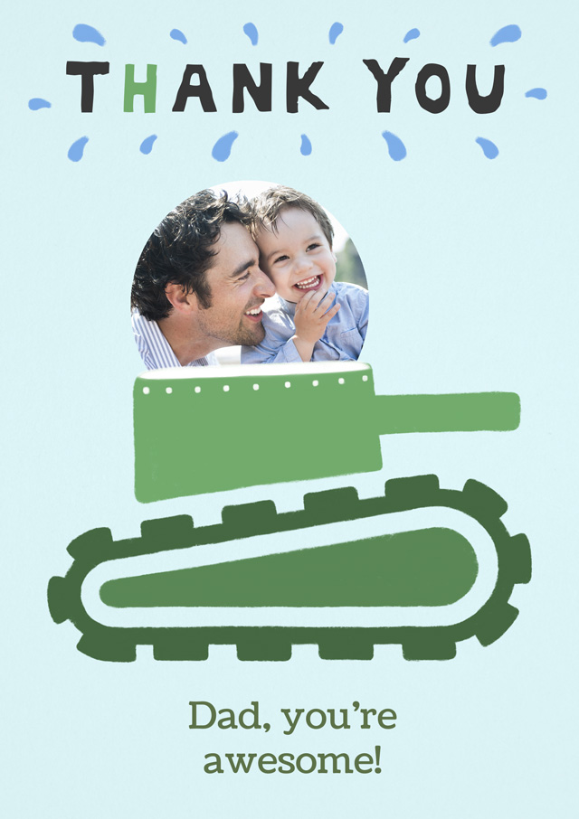 Create a Tank You Dad Greeting Card