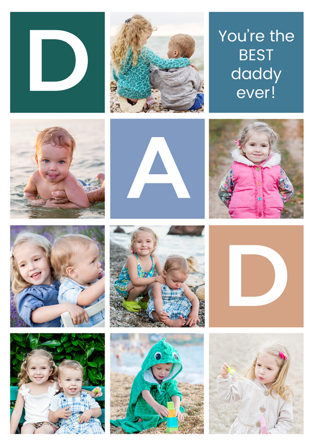Create a Dad 8 X Collage Greeting Card