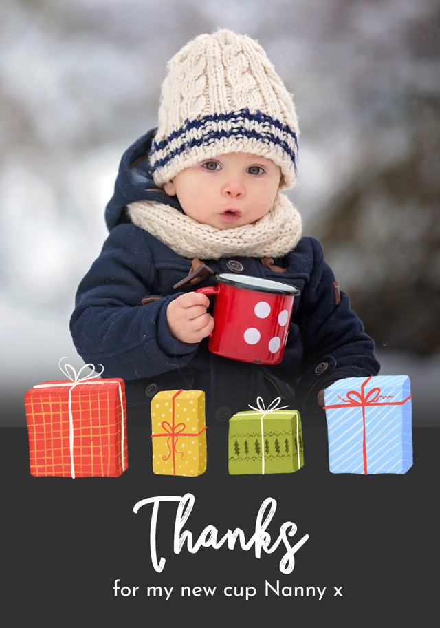 Photo Thank You Card Presents