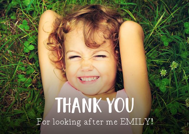 Create a Photo Thank You Card Overlay Text Photo Card