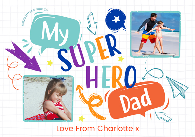 Create a Sophie Superhero Photo Card
