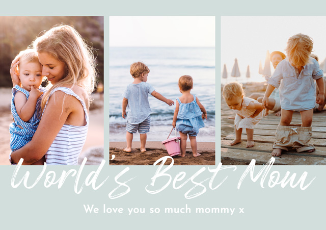 Photo Mother's Day Card Collage World's Best Mom