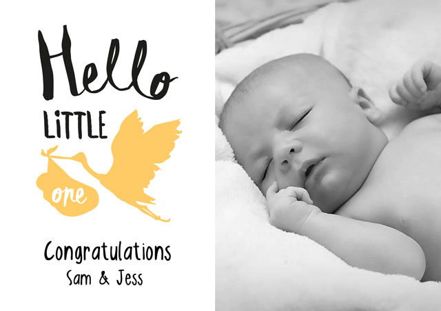 Create a Hello Little One Greeting Card