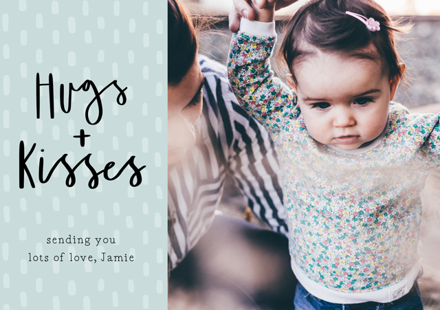 Create a Hugs + Kisses Photo Card