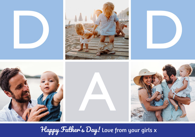 Create Photo Father's Day Card Dad Collage Card