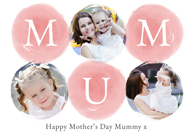 Create Photo Mother's Day Card Watercolour Mum Card