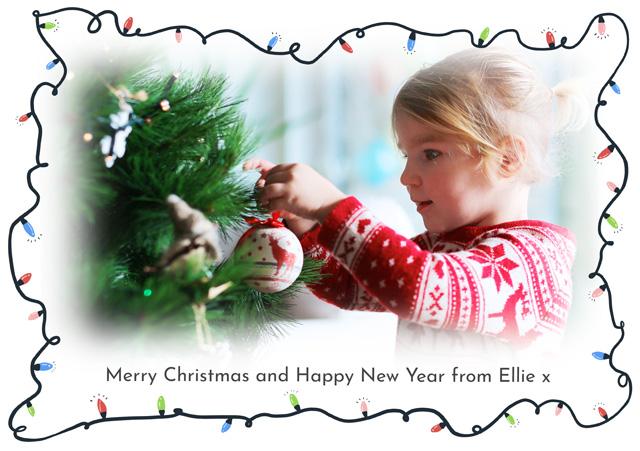 Create a Photo Christmas Card Fairy Lights Photo Card