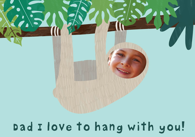 Create a Father's Day Sloth Greeting Card