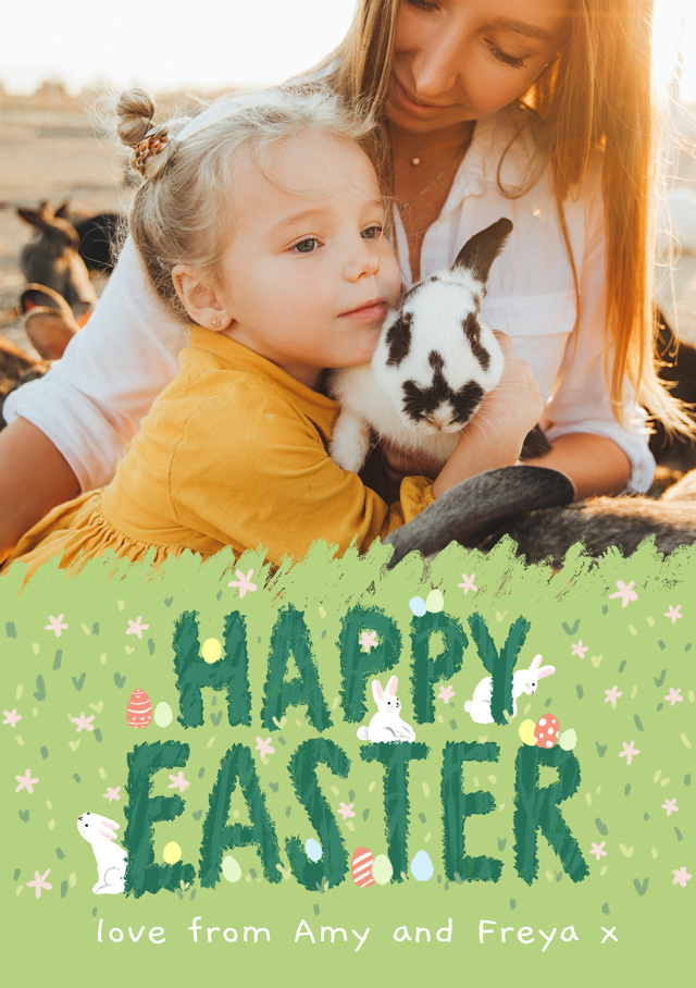 Create Photo Easter Card Spring Into Easter Card