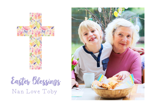 Create a Photo Easter Card Cross Photo Card