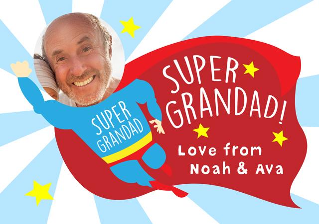 Create a Superhero Grandad Greeting Card