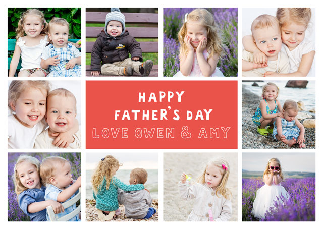 Create a 10 Collage Daddy Photo Card