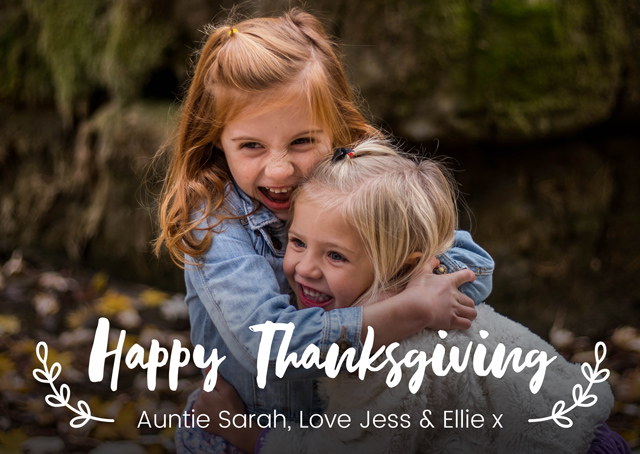 Create Thanksgiving Photo Overlay Card