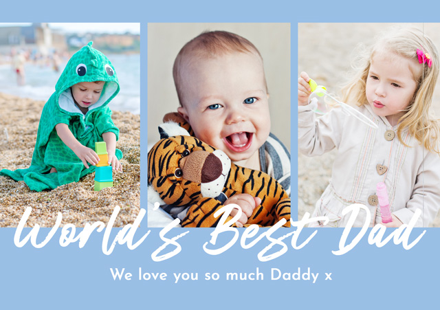 Create a Photo Father's Day Card World's Best Dad Photo Card