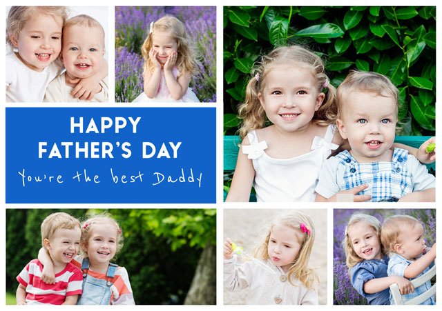 Create a Collage Father's Day  Photo Card