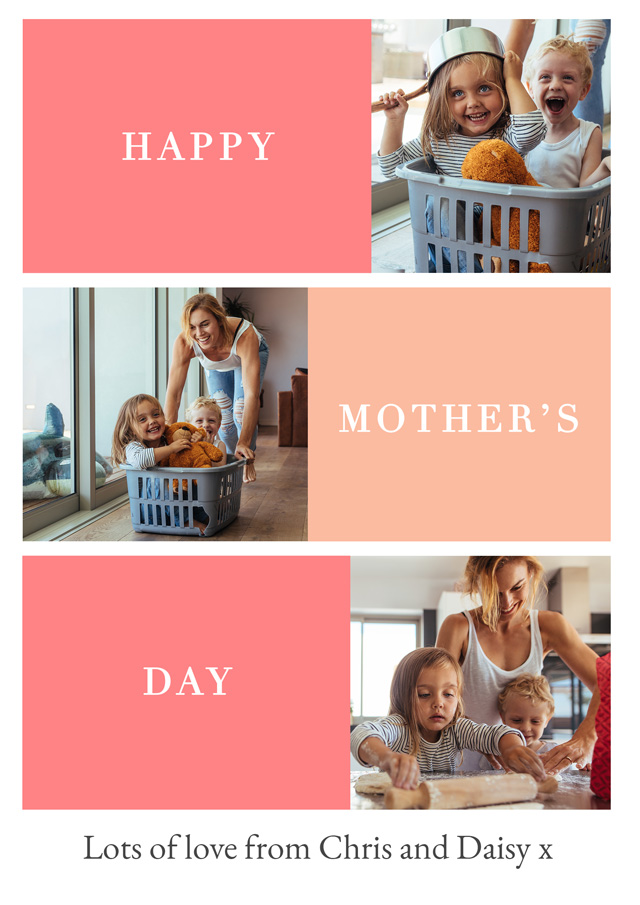 Create a Photo Mother's Day Card Happy Mother's Day Photo Card