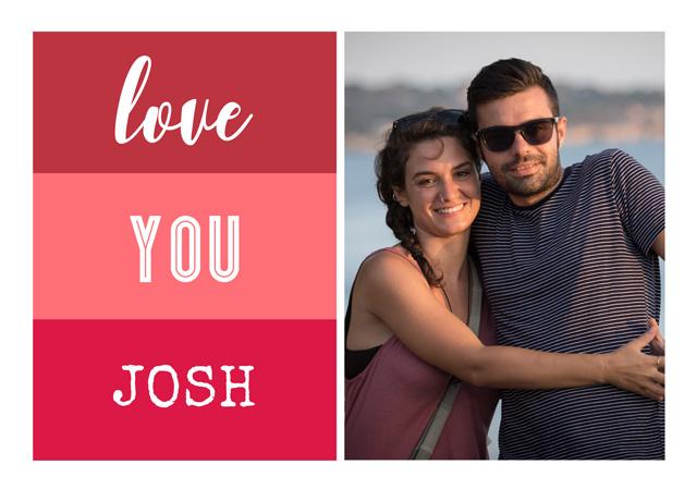 Create a Photo Card Love Red Palette Photo Card