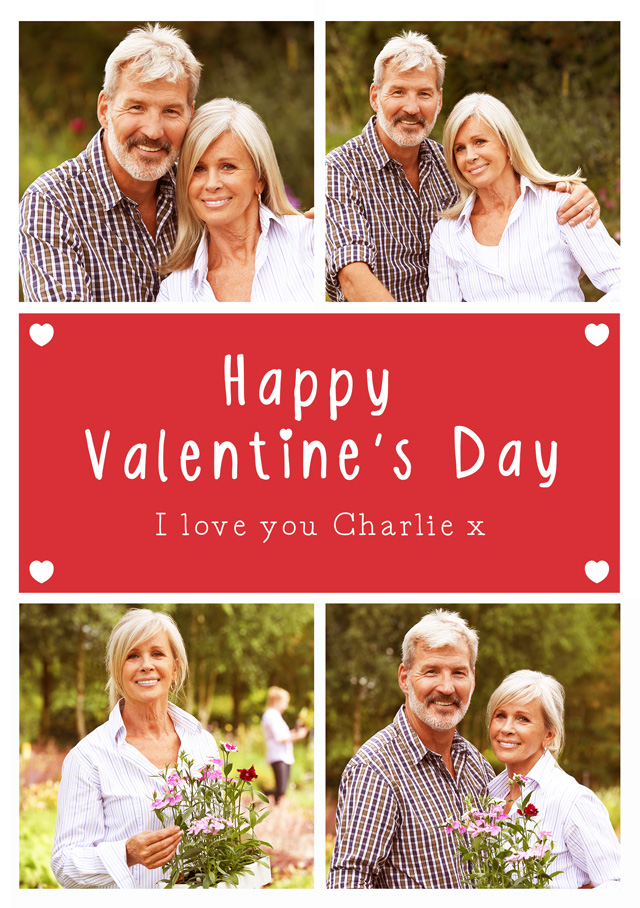 Create a Valentines 4 Collage Greeting Card