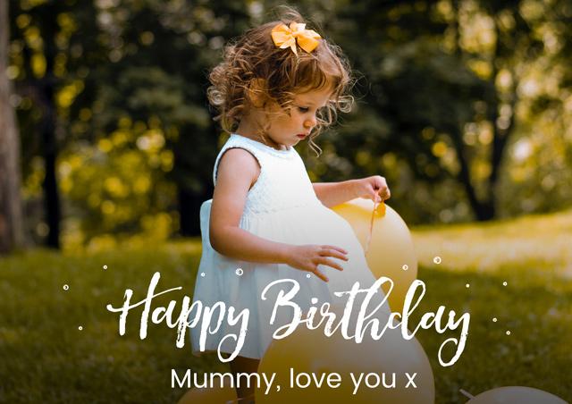 Create a Photo Overlay Birthday Greeting Card