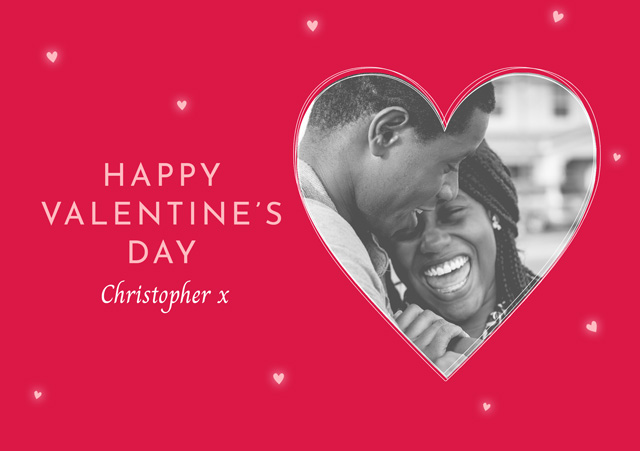 Create a Photo Card Valentines Red Heart Photo Card