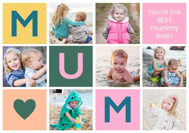 Create a Mum X7 Collage Greeting Card
