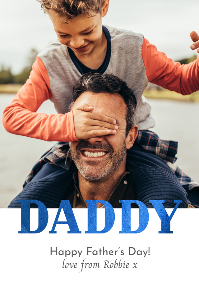 Create Photo Father's Day Card Daddy Foil Card