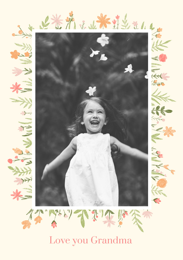Create New Photo Card Grandparents Day   Design 3 Card