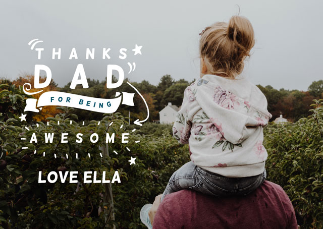 Create a Thanks Dad  Photo Card