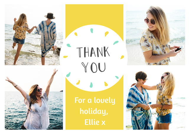 Create a Photo Thank You Card Collage Circle Photo Card