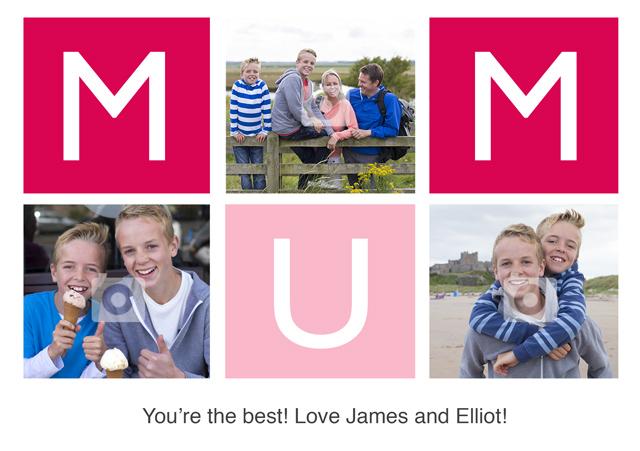 Create a Mum Collage Greeting Card