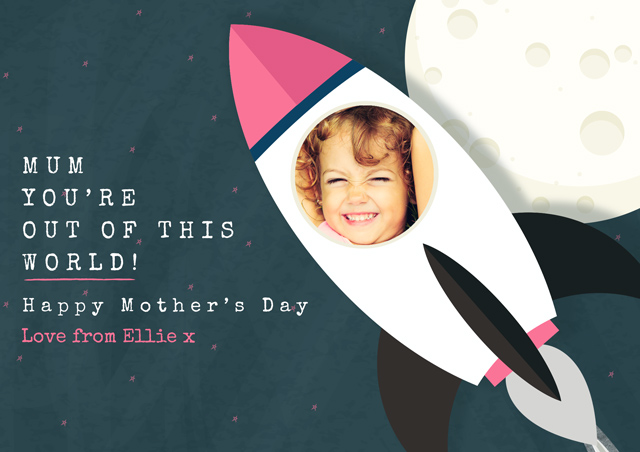 Create a Mother's Day Rocket Photo Card