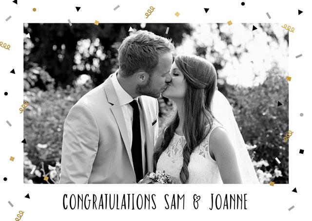 Create a Confetti Congratulations  Photo Card