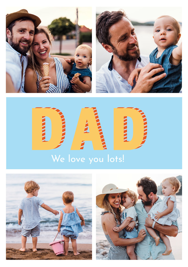 Photo Father's Day Card Dad Modern Collage