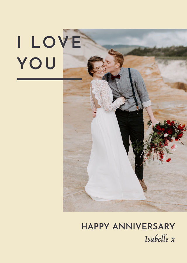 Create Anniversary Side Photo Card Card